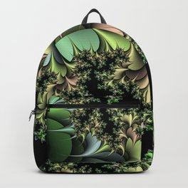 Kale Leaves Fractal Backpack