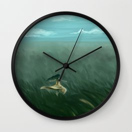 Grassland Wind Wall Clock