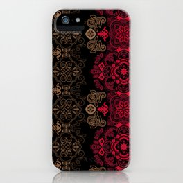 Ethnic Floral Vector Ornament iPhone Case