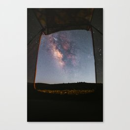 Milky Way Camping Canvas Print