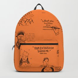 Gilmore Girls Quotes in Orange Backpack
