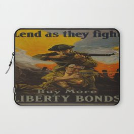 Vintage poster - Lend as They Fight Laptop Sleeve