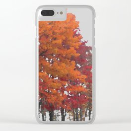 Orange Tree Clear iPhone Case
