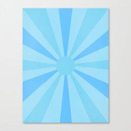 blue sunshine Canvas Print