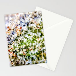Diamond OG Kush Strain Top Shelf Indoor Hydro Trichomes Close Up View Stationery Cards