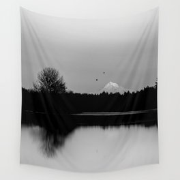 Mound Hood Reflection II Wall Tapestry