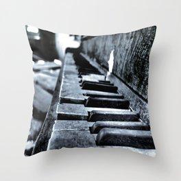Forgotten Piano Throw Pillow