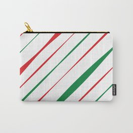 Christmas Stripes Carry-All Pouch