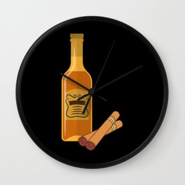 CIGAR AND WHISKEY Cigar Aficionado Gift Cigar Smoker Wall Clock