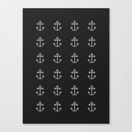 Anchor Beads // Black and White Canvas Print