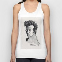 tom waits Tank Tops featuring TOM WAITS by Simone Bellenoit : Art & Illustration