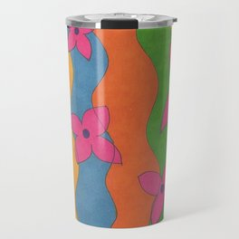 Retro: Flower Power Travel Mug