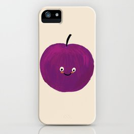 Kawaii Plum iPhone Case