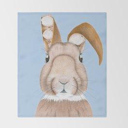 Wisteria Rabbit Throw Blanket