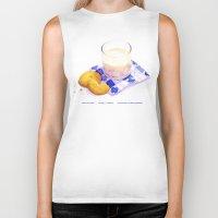 cookies Biker Tanks featuring Milk & Cookies by Nancy L. Hoffmann