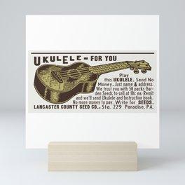 Ukulele For You! Retro Advertisement Reproduction Mini Art Print