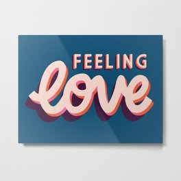 Love, Hand Lettered, Happy Valentine's Day 2 Metal Print
