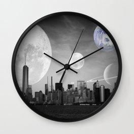 Surreal New York  Wall Clock