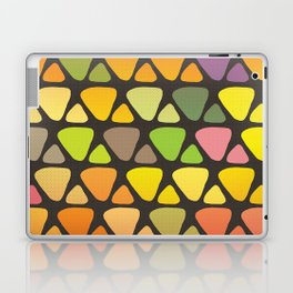 Bright colorful abstract triangles retro pattern Laptop & iPad Skin