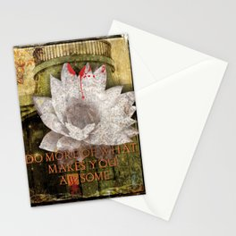 Do More What Makes You Awesome - Dark Art Print Collage Stationery Cards