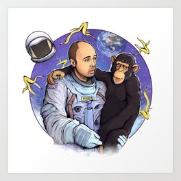 Karl Pilkington - An Idio In Space Art Print