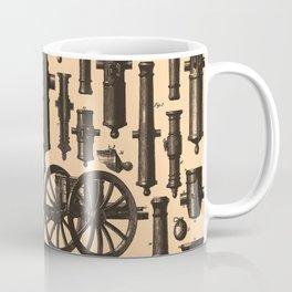 Vintage Cannon & Artillery Diagrams (1907) Coffee Mug