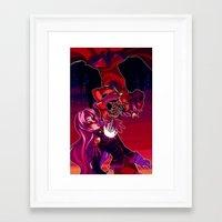 utena Framed Art Prints featuring somberly, somberly linger, lie longer-ly [utena] by [betamax]