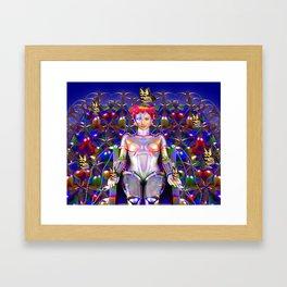 Robot Butterfly Framed Art Print