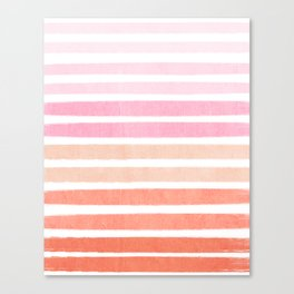 Camil - ombre gradient brushstrokes abstract painting minimalist seaside coastal beach cottage decor Canvas Print