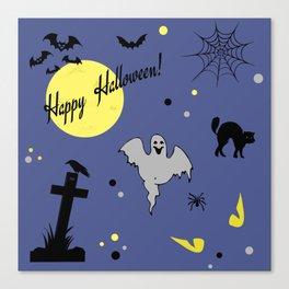 Halloween symbols Canvas Print