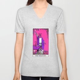 1. The Magician- Neon Dreams Tarot Unisex V-Neck