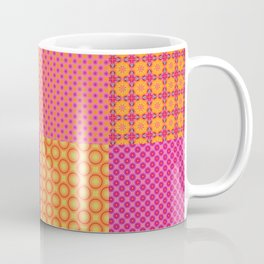 4x4 tiled digital patchwork, quilt like pattern. 16 different patterns. Coffee Mug