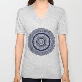 Denim Mandala Unisex V-Neck