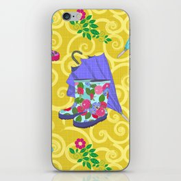 Ready for Rain - Wellies and Ellies! iPhone Skin