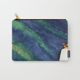 Penguin with Southern Lights Carry-All Pouch