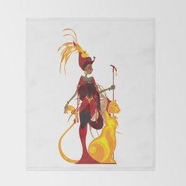 Sekhmet Throw Blanket