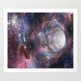 Wormhole Art Print