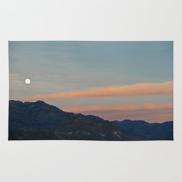 Full Moon Over Death Valley Rug