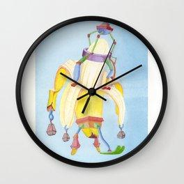 Banana Peeler Wall Clock