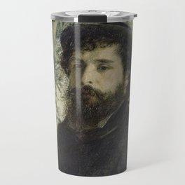 Pierre-Auguste Renoir - Portrait of Claude Monet Travel Mug