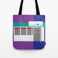 kansas city Tote Bags featuring Kansas City Food - BBQ by greetingsfromKC