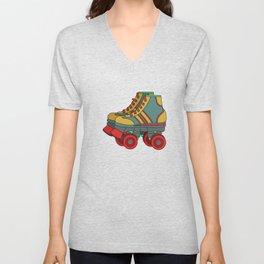Classic & Cool Tshirt Design Roller Blades Unisex V-Neck