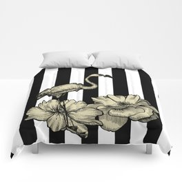 Stripe Flamingo Comforters