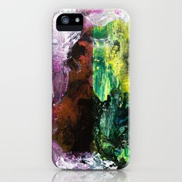 Sweet or Sour // abstract painting iPhone Case