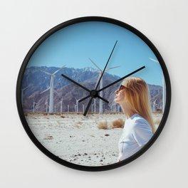 Palm Springs Windmills IX Wall Clock