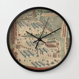 Vintage Lake George French and Indian War Map (1768) Wall Clock