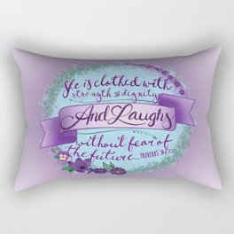 Proverbs 31:25 Rectangular Pillow