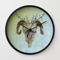 ruby Wall Clocks featuring Ruby by 830z