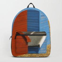 Multi-coloured beach Huts Backpack