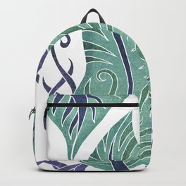 Leaf - Exotic Boho Leaf Pattern 01- Colorful, Modern, Tropical Art - Sea, Spectra, Victoria Backpack